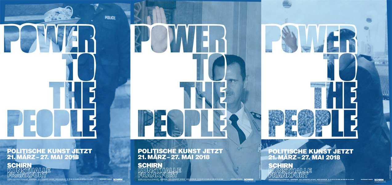 Schrin Kunsthalle Poster POWER TO THE PEOPLE